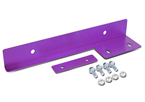 ICBEAMER Purple Universal Front Aluminum Bumper License Plate Mount Relocator Frame Bracket Holder Bar -Drilling Require (Mazda Cx 5 Vs Cx 7 Dimensions)