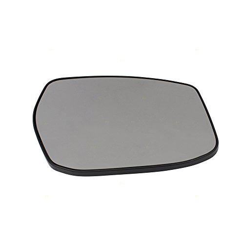 Passengers Side View Mirror Glass & Base Heated Replacement for 13-18 Nissan Sentra Altima 4-Door Sedan ONLY 963653TH3A NI1325107 ()