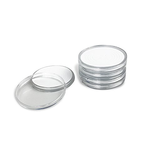 Holder Coin Round - 50 PCS Round Clear Plastic Coin Holders Collectors Storage Capsules 25-40mm Adjustable Inner Diameter