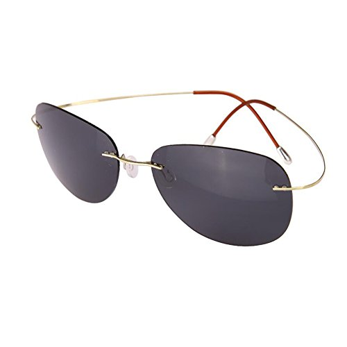 de de Gafas Gold HONEY conducción del unisex hyun marco vidrios ultra de sin 90 Color blue black polarizados sol titanio Silver ligeras Svwq5wf