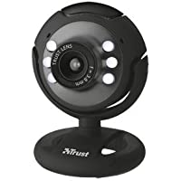 Trust Spotlight Webcam for PC, Laptop - Black