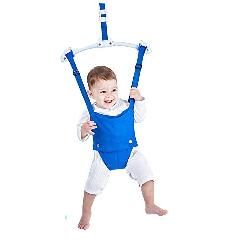 Baby Door Jumpers and Bouncers Swing Exerciser Set with Door Clamp Adjustable Strap for Toddler Infant 6-24 Months