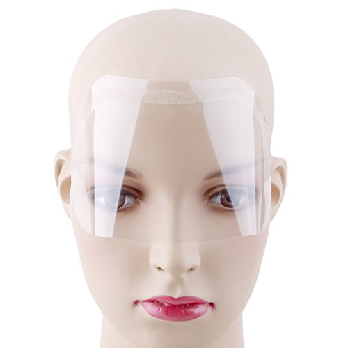Meolin 50Pcs Transparent Disposable Face Shield Hairspray Shield Eye Protection Transparent -