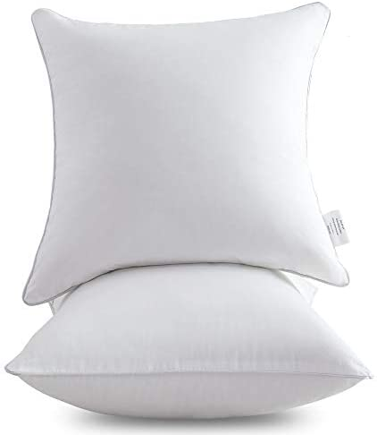 Oubonun 20 X 20 Pillow Inserts Set Of 2 Throw Pillow Inserts With 100 Cotton Cover 20 Inch Square Interior Sofa Pillow Inserts Decorative Pillow Insert Pair White Couch Pillow Kitchen Dining Amazon Com
