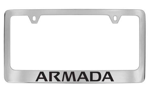 Nissan Armada Chrome Plated Metal License Plate Frame Holder