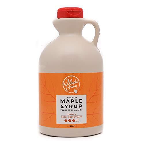 MapleFarm – Ahornsiroop – Pure Canadian maple syrup DARK – 1 Litre – Grade A – Canadian maple syrup – pancake syrup…