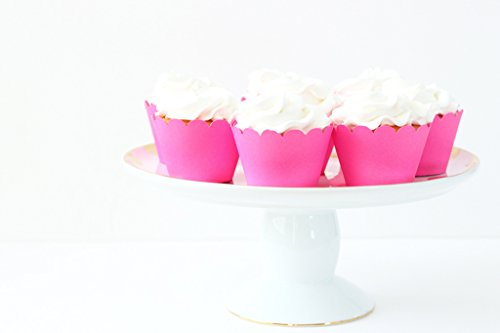 Neon Pink Cupcake Wrappers Bright Pink Party Supplies Cupcake Liners Girls Birthday Party Bachelorette Party Cupcake Wrappers