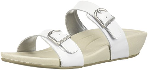 Eastland Women's Cape Ann Slide Sandal, White, 7 M US by Eastland