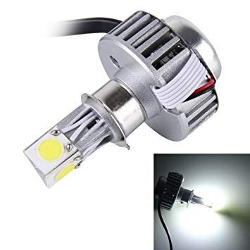 Uniqus 25W 2500 LM 6000K Motorcycle Headlight with 3 LED Lamps, DC 6-36V(White Light)