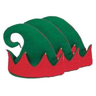 Felt Elf Hat with Jingle Bells Pkg/12