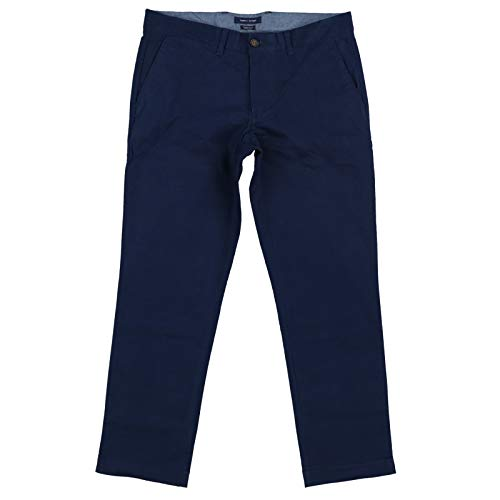 Tommy Hilfiger Mens Tailored Fit Chinos Pants (36x34, Navy Blue) ()