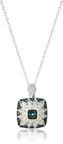Diamond 14k Square Pendant - 1