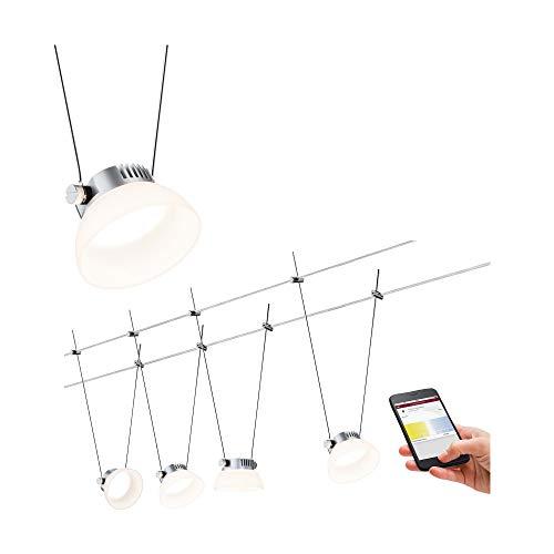 Paulmann 500.16 Smarthome LED Bluetooth kabelsysteem Iceled 4x4W DC chroom mat 50016 kabellamp kabel lamp