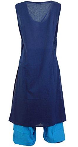 mit Bekleidung amp; Blau Lange Passender Baumwolle Damen Kaftankleid Türkis Kleider Midi Guru Boho Shop Langes Aladinhose Alternative vwIqI6