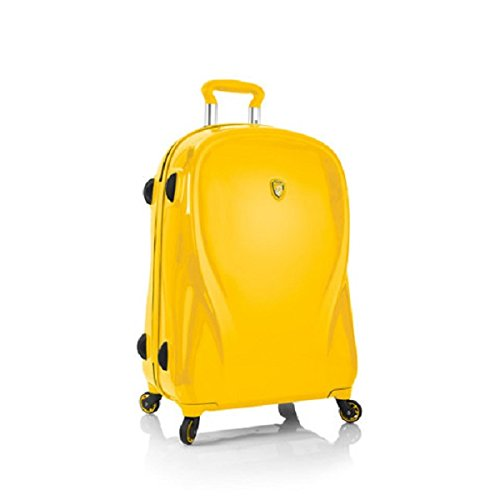 """Heys Xcase 2G Citron Yellow 26"""" Spinner Luggage, 100% Polycarbonate"""