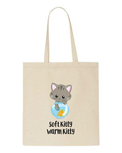 Tote Bag Statement Shopper Kitty 5 Beige Cute Warm Cat Soft qXYvA1Wn40