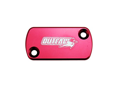 Outlaw Racing Billet Front Master Cylinder Reservoir Brake Cap CR CRF KX KXF RM RMZ YZ YZF WR (Red)