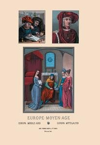 (Europe - Fifteenth Century Civil Costumes Fine art Giclee canvas print (20 x 30))