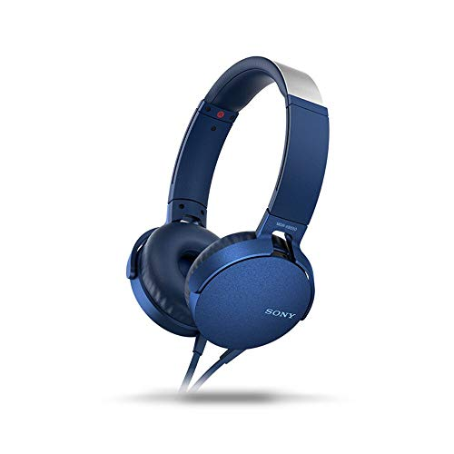 Sony MDR-XB550AP/L Extra Bass Wired Headphones - Blue