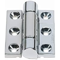 Pack of 20 Clear Coated Satin Nickel Plated Don-Jo 1505 Cast Zinc Hinge Stop