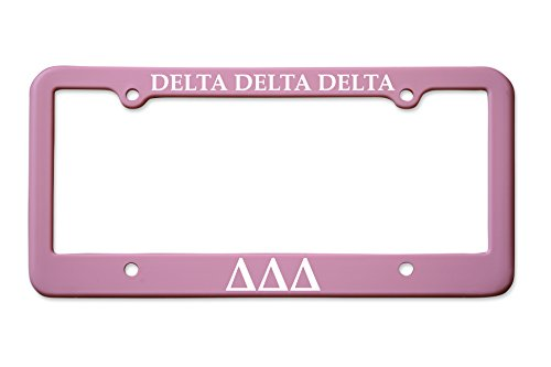 Officially Licensed Delta Delta Delta License Plate Frame - Matte - License Frame Delta Plate
