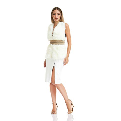 Saia Acostamento Feminino Fashion Off White
