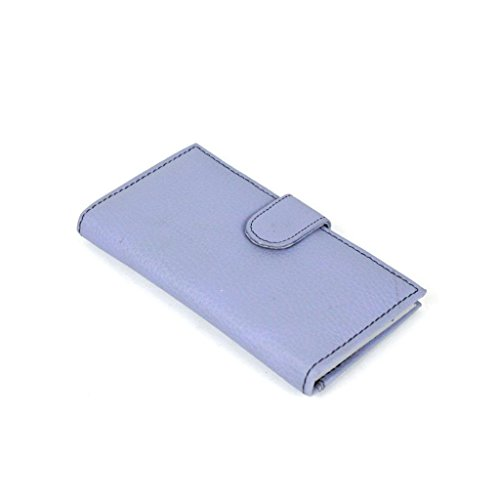 Wallet Genuine Leather credit card holder/ Wallet Billfold Bifold(Unisex)#C83-L Purple