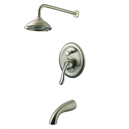 Yosemite Home Decor YPH24258-BN Single Handle Tub and  Shower, Small, Brushed Nickel