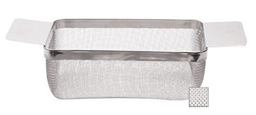 8'' x 4'' x 3-1/2'' Stainless Steel Fine Mesh Rectangular Cleaning Basket Clean Metal Jewelry by PMC Supplies LLC