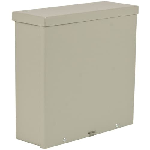 Wiegmann RSC101006 RSC-Series NEMA 1/3R Wall-Mount Enclosure with Lift-Off Screw Cover and Knockouts, Carbon Steel, 10'' x 10'' x 6''