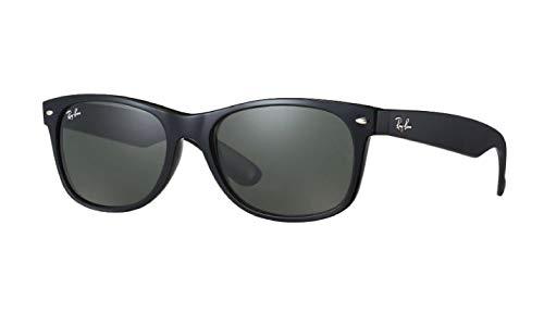 Ray-Ban RB2132 New Wayfarer Polarized Sunglasses Black/Crystal Green (901/58) RB 2132 52mm