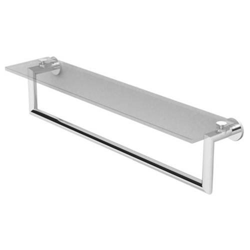 Ginger 4619T-24/SN Kubic Toiletry Shelf with Towel Bar, 24'', Satin Nickel