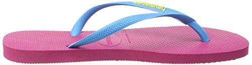 Tongs Logo Slim Rose Havaianas Turquoise 8613 Orchid Rose Femme vnRA55xd