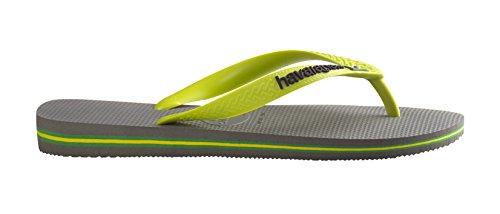 Lima Flip Unisex Verde Chanclas 37 Color Brasil Logo Verde Cinza Medida Grigio Flop Havaianas 38 Sxwfqpw
