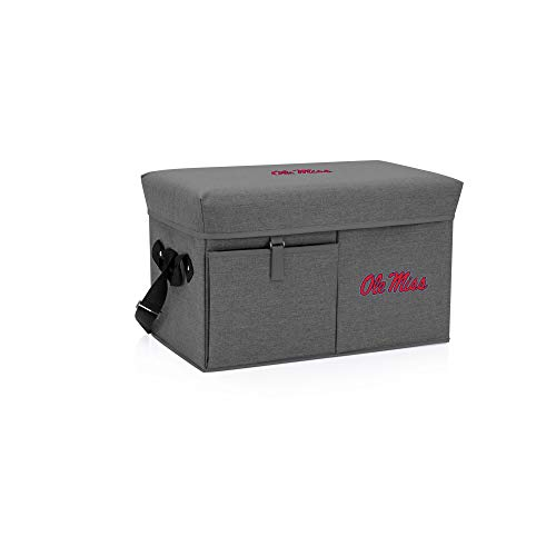 - PICNIC TIME Ole Miss Rebels - Ottoman Cooler & Seat (Grey)