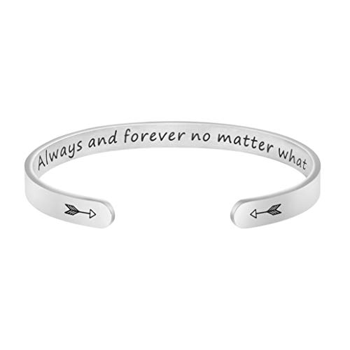 Joycuff Long Distance Best Friend Jewelry for Lover Girlfriend Always and Forever No Matter What Bracelet