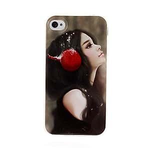 ZXM-TPU tranquila chica gel suave cubierta trasera del caso para el iphone 4/4s