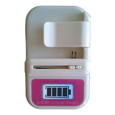 Cargador baterias de moviles externo universal pantalla LCD