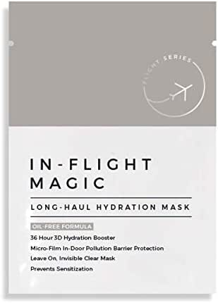 In-Flight Magic Long Haul Hydration Mask, Completely Oil-Free, 36 Hour 3D Hydration, Face Mask Treatment for Sensitive Skin, Face Mask for Travel