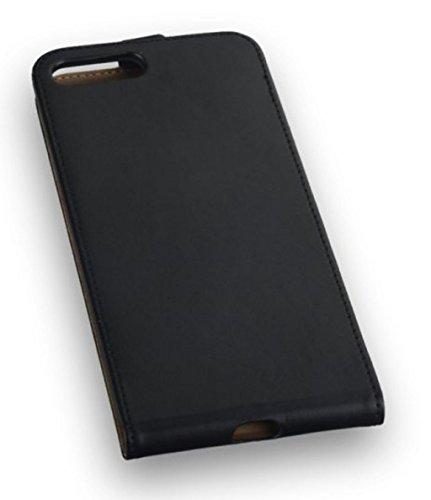 """Edle Premium Handy Flip Case Tasche schwarz für """"Apple Iphone 7 Plus 5,5 Zoll"""" Schutz Hülle Etui Cover Schale schwarz"""