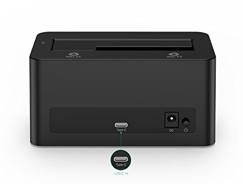 Nekteck USB Type C USB3.1 (USB-C) to SATA 2.5/3.5 Inch External Hard Drive Disk Docking Station Enclosure for for 3.5'' 2.5'' SATA HDD and SSD [Support Up to 8TB] - Tool Free, 1 Bay by Nekteck (Image #3)