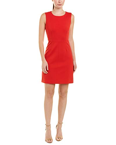 (Diane von Furstenberg Womens Carrie Shift Dress, 4, Red)