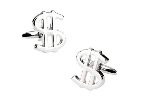 Epinki Cufflinks for Men Silver US Dollar Sign Cufflinks Studs Cufflinks for Wedding Party
