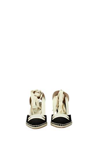 Manolo Eu Sandales Noir 020472 Tissu Femme Castañer Blahnik 5gxwBqq