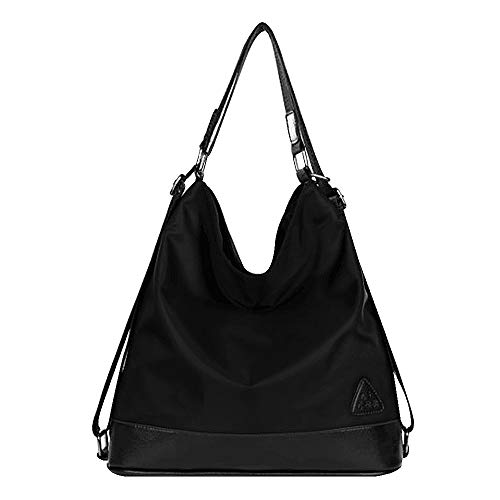 Boutique Purse Handbag - Goodbag Boutique Women Waterproof Nylon Tote Handbag Girl Versatile Satchel Purse Messenger Shoulder Bag Black