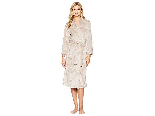 N Natori Women's Plush Fleece Robe, Mink, - Natori Robe Fleece