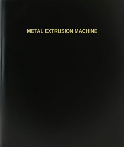 BookFactory Metal Extrusion Machine Log Book / Journal / Logbook - 120 Page, 8.5