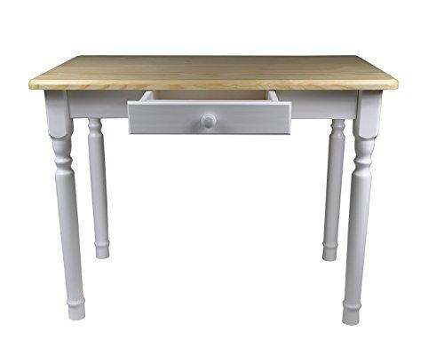 Esstisch mit Schublade Küchentisch Tisch Massiv Kiefer Speisetisch ...