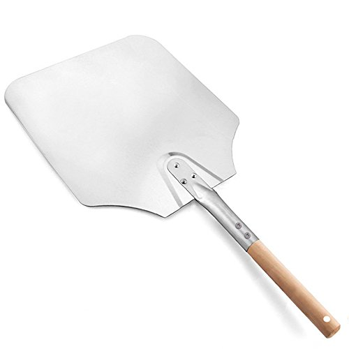 Pizza Peel, Banne 14 inch x 16 inch Aluminum Pizza Shovel with Detachable Wood Handle for Baking Pizza
