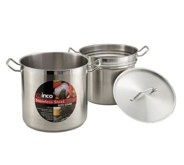 Winco SSDB-20 20 Qt. Master Cook Double Boiler W/ Cover, Stainless - Double Boilers-SSDB-20 by Winco